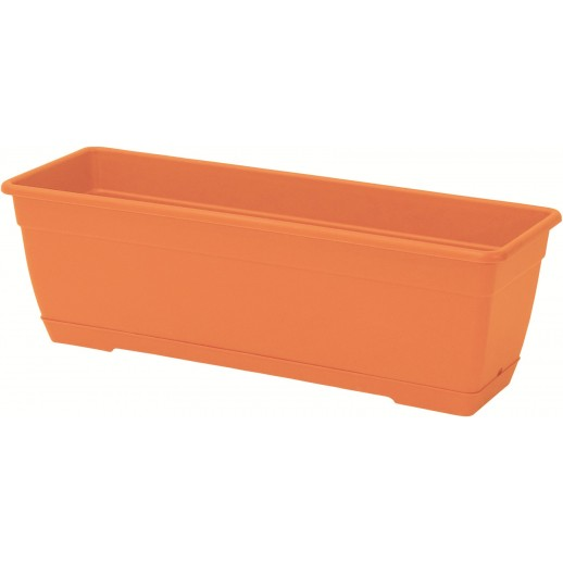 Marchioro lovelis su lėkštele Birka 50 oranžinės spalvos