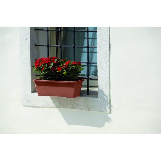 Nicoli pakabinamas lovelis su lėkštele Primavera Plus 60, molio spalvos