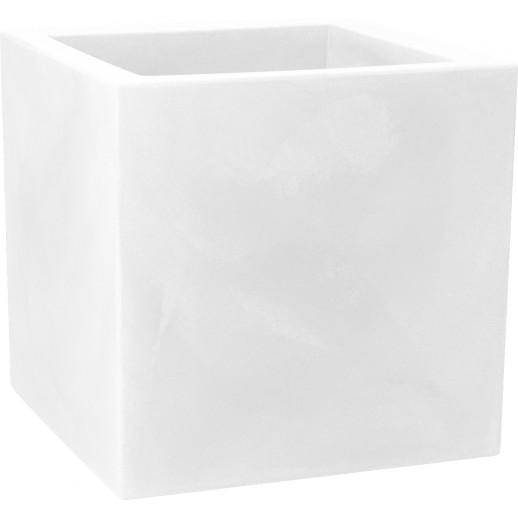 Nicoli vazonas Modus Quadro 40 baltos spalvos