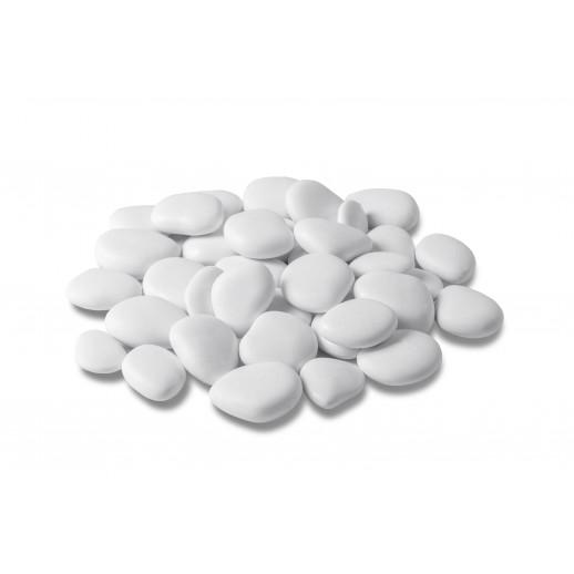 Dekoratyviniai akmenukai maži, baltos spalvos (25x50cm pakuotė)